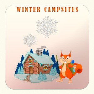 Winter campsites
